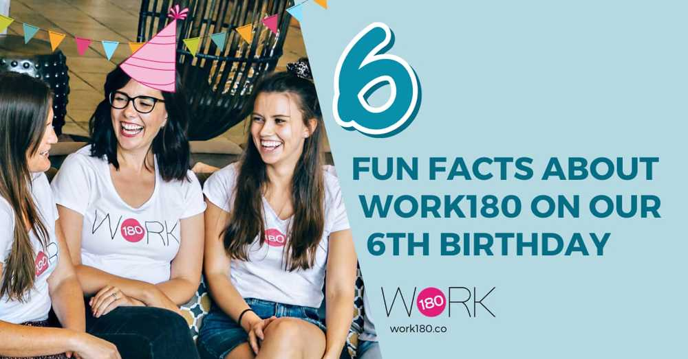 6 fun facts about WORK180 on our 6th birthday!
