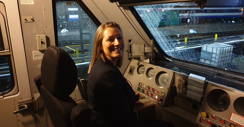 Why more women should consider a career as a train driver